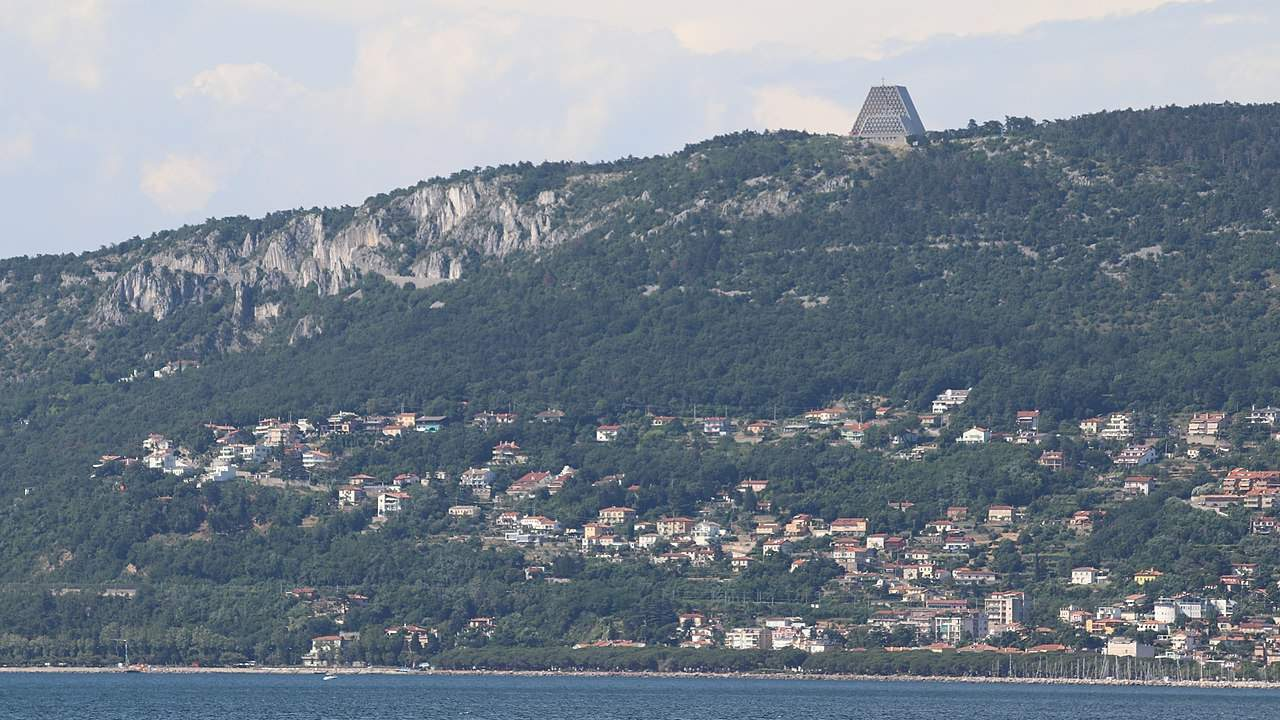 View of Temple Monte Grisa, Trieste