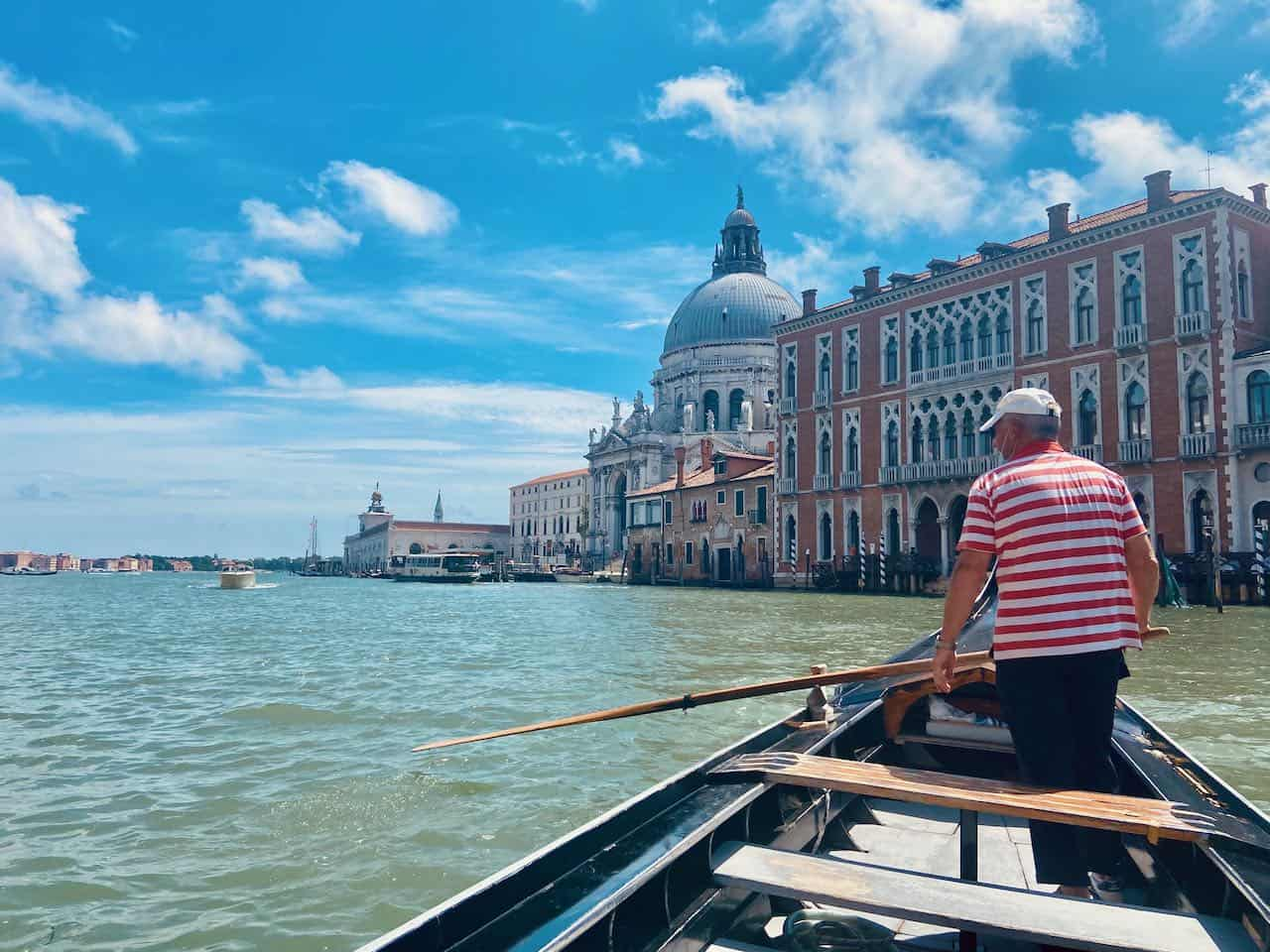 Views of Venice from traghetto