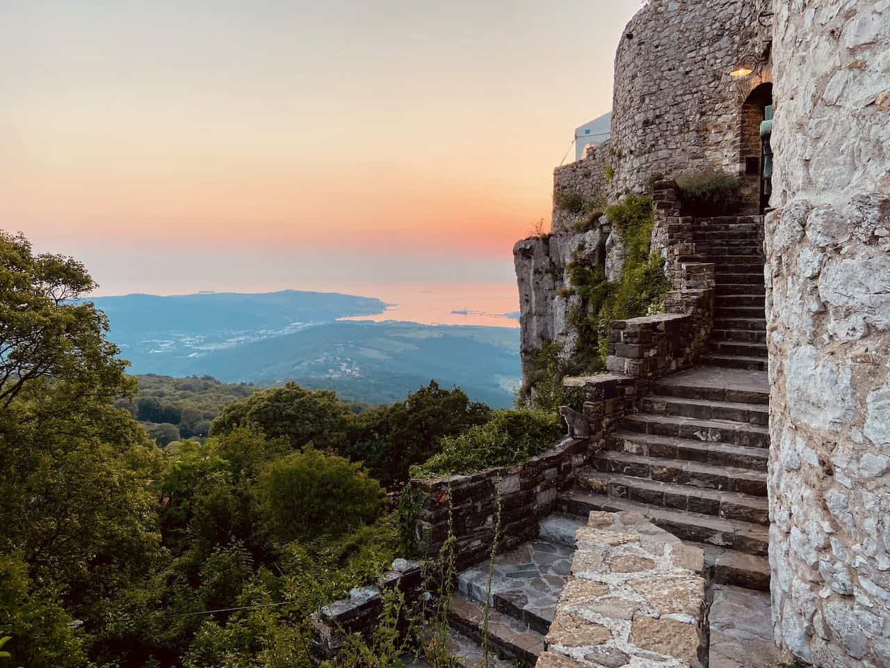 Views of Slovenian Coast from Socerb Castle