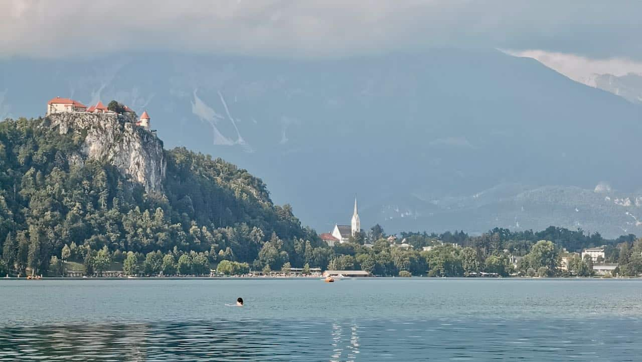 Bled Castle, views from Lake Bled