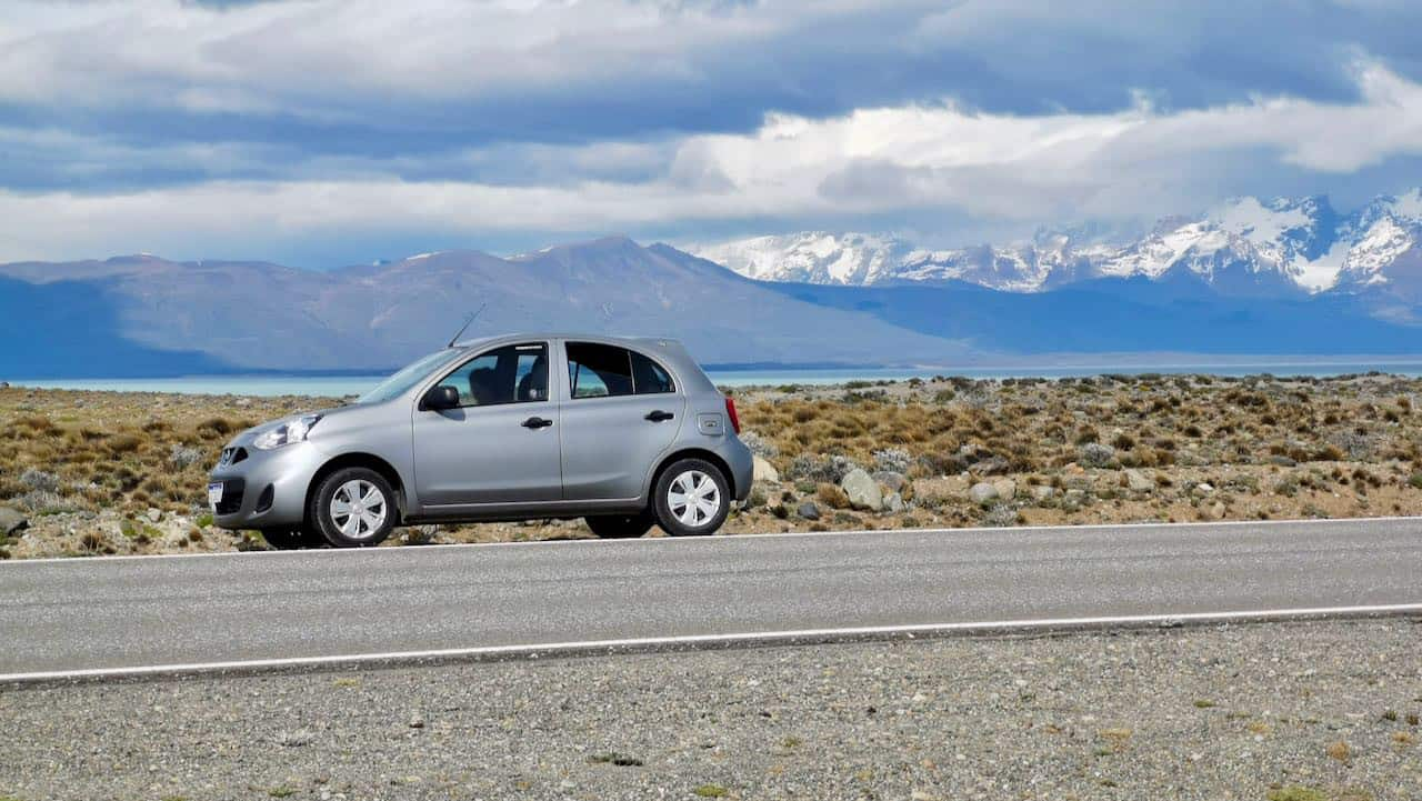 Our car in Patagonia, it was a small but resistant one!
